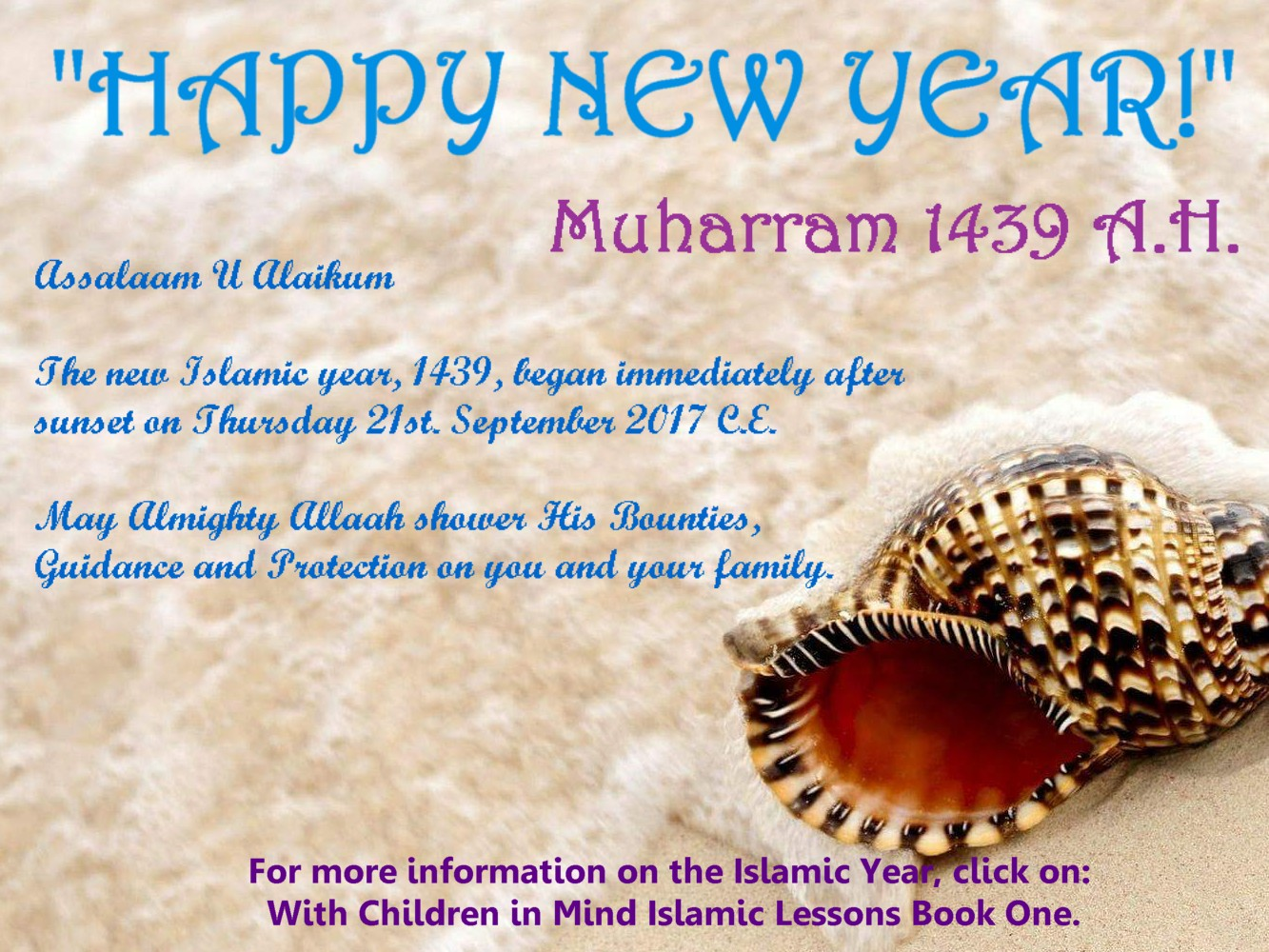 Click here for more information on The Islamic New Year